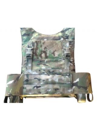 Жилет (плитоноска) TurGear Panzerklein I, розмір М-M / Multicam Black