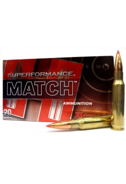 Набій нарізний Hornady Superformance Match .308 Win (7.62x51) A-Max / 10.89 г, 168 gr