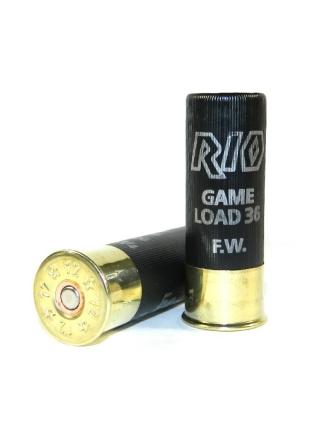 Набій мисливський RIO Game Load-36 FW (RIO 100) 12/70 / без контейнера / дріб №5 (3 мм), 36 г