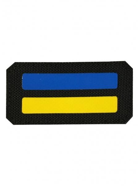 Шеврон «Прапор України», чорний, 80х40 мм
