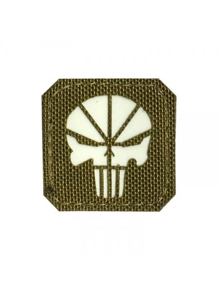 Шеврон «Каратель» / Punisher, світлонакопичувальний, 40х40 мм