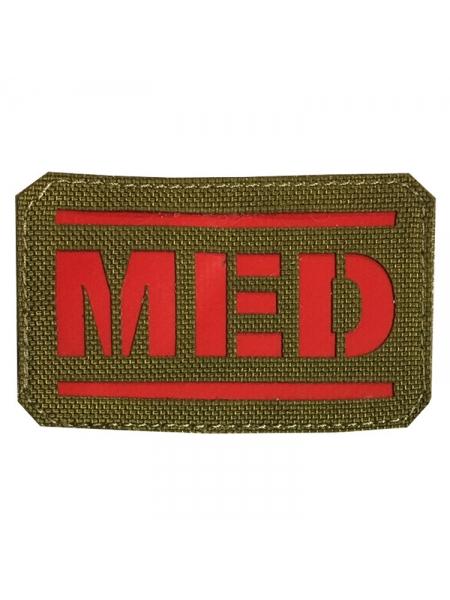 Шеврон «MED», NIR, червоний, 80х50 мм