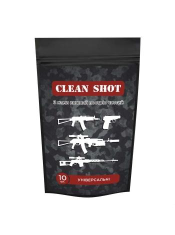 Серветка для чищення зброї Clean Shot / 10 шт. в упаковці