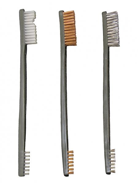 Набір щіток OTIS AP Brushes Trio 3 од. (біла нейлон., бронзова, нержавіюча сталь)