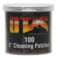 """Патчі OTIS 2"""" для чищення зброї .17-.25 / 100 шт."""