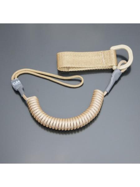 Шнур кручений страхувальний з поясним кріпленням QD і м'якою петлею / колір: койот