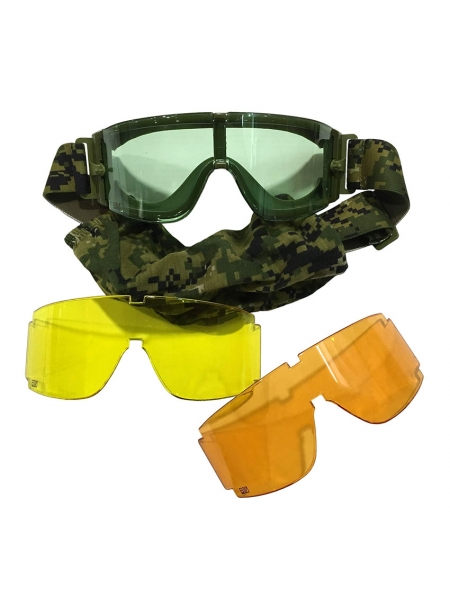 Окуляри-маска тактичні «Вій-ШТУРМ» зі змінними лінзами