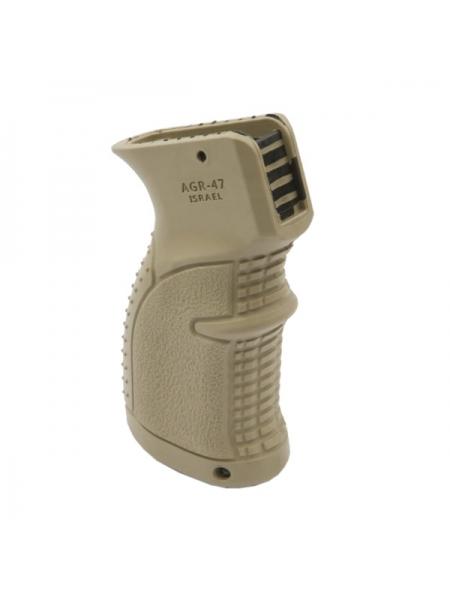 Пістолетна рукоятка AGR-47 Fab Defense для АК-47 обгумована / колір: Sand