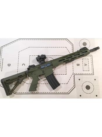 """Карабін ZBROYAR Z-15 5.56x45 (.223 Rem) 14.5"""" в обвісі / колір: олива"""