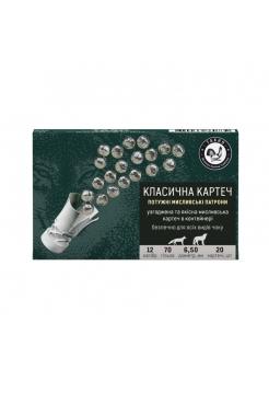 Набій Тахо 12/70, картеч 20х6.5 мм в контейнері, 28 г