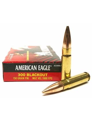 Набій нарізний Federal American Eagle .300 AAC Blackout (7.62x35) FMJ-BT / 9.7 г, 150 gr