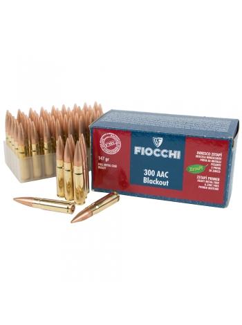 Набій нарізний Fiocchi .300 AAC Blackout (7.62x35) FMC / 9.5 г, 147 gr
