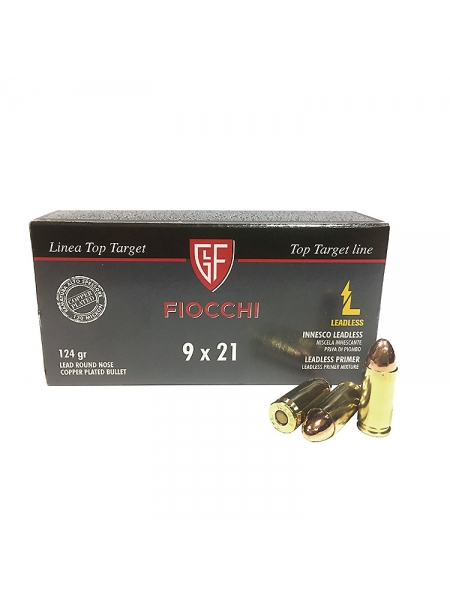 Набій нарізний спортивний Fiocchi 9мм (9х21) RNCP / 8.0 г (124 gr)