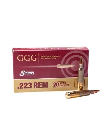 Набій нарізний GGG .223 Rem (5.56х45) HPBT / 4.47 г, 69 gr