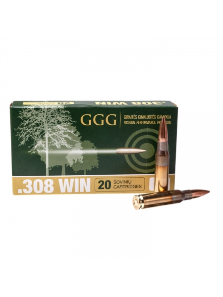 Набій нарізний GGG .308 Win (7.62х51) куля HPBT, 11.66 г / 180 gr