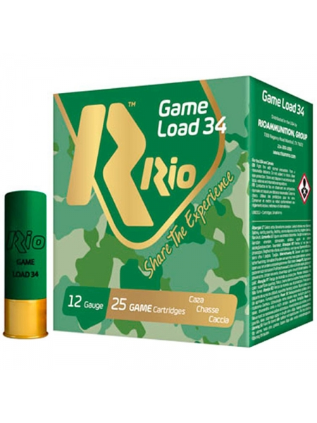 Набій мисливський RIO Game Load-34 NEW / дріб №5 (3 мм), 34 г