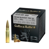 Набій нарізний Sellier&Bellot .300 AAC Blackout (7.62x35) FMJ / 8 г, 124 gr