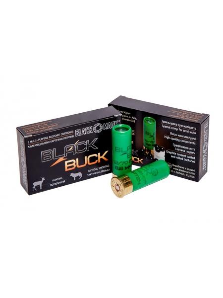 Набій Black Buck B34 12/70, картеч 9х8.6 мм в контейнері, 34 г