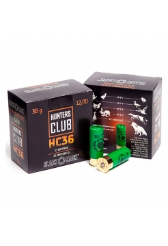 Набій Black Mark Hunters Club HC36 12/70, дріб №2/0 в контейнері, 36.1 г
