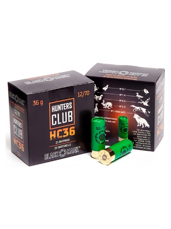 Набій Black Mark Hunters Club HC36 12/70, дріб №0 в контейнері, 36.1 г