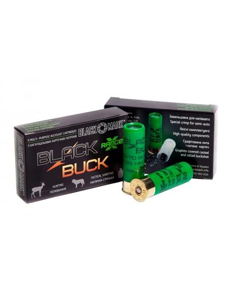 Набій Black Buck XR36 12/70, картеч 10х8.38 мм в контейнері, 36 г