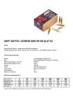 Набій нарізний ABR Match .223 Rem (5.56x45) SMK / 4.47 г, 69 gr