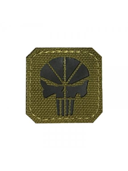 Шеврон «Каратель» / Punisher, чорний, 40х40 мм