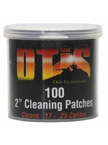 """Патчі OTIS 2"""" для чищення зброї калібрів .17-.25 / 100 шт."""