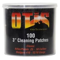 """Патчі OTIS 3"""" для чищення зброї .25-.50, 410 - 12/10 Ga / 100 шт."""