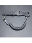 Шнур кручений страхувальний з кріпленням фастекс і карабіном / колір: чорний