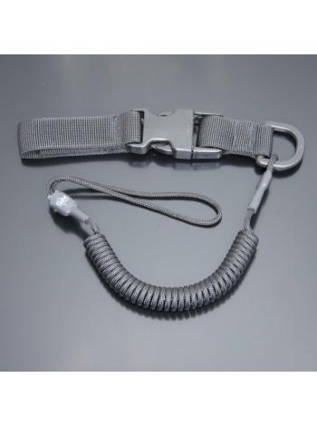 Шнур кручений страхувальний з кріпленням фастекс і м'якою петлею / колір: чорний