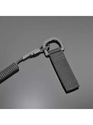 Шнур кручений страхувальний з поясним кріпленням QD і карабіном / колір: олива