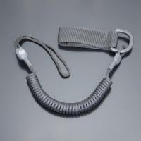 Шнур кручений страхувальний з поясним кріпленням QD і м'якою петлею / колір: чорний