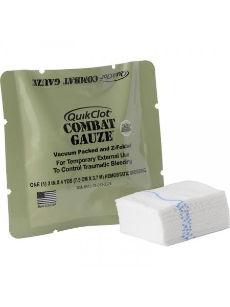 Кровоспинний (гемостатичний) бинт Quikclot Combat Gauze Z-Fold