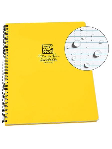 Блокнот всепогодний Rite in the Rain Side-Spiral Notebook №373 Yellow