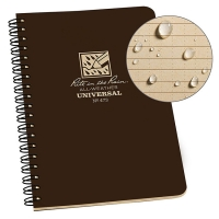 Блокнот всепогодний Rite in the Rain Side-Spiral Notebook №473 Brown