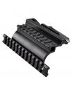 Бічний швидкознімний кронштейн Vector Optics SCRA-21B для АК + дві планки Weaver/Picatinny