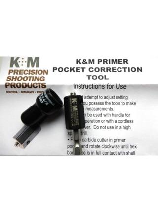 Фреза K&M Small Pistol & Riffle - Primer Pocket Correction Tool для коригування капсульного гнізда