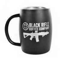 Кружка керамічна Black Rifle Coffee Company Classic Logo Stainless Steel Mug 390 мл / чорна