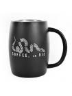 Кружка керамічна Black Rifle Coffee Company Classic Logo Stainless Steel Mug 390 мл / чорна