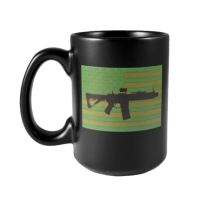 Кружка керамічна Black Rifle Coffee Company Subdued AR Flag Ceramic Mug 420 мл