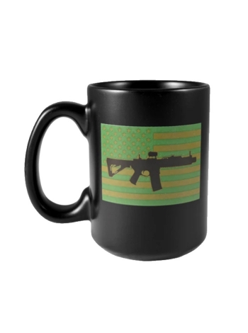 Кружка керамічна Black Rifle Coffee Company Subdued AR Flag Ceramic Mug 420 мл