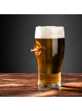 Келих для пива зі справжньою кулею к-ру .375