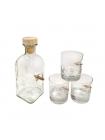 Набір стаканів зі справжньою кулею (6 шт.) та графін в подарунковій коробці