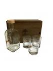 Набір стаканів зі справжньою кулею .30-06 (3 шт.) та графін в подарунковій коробці