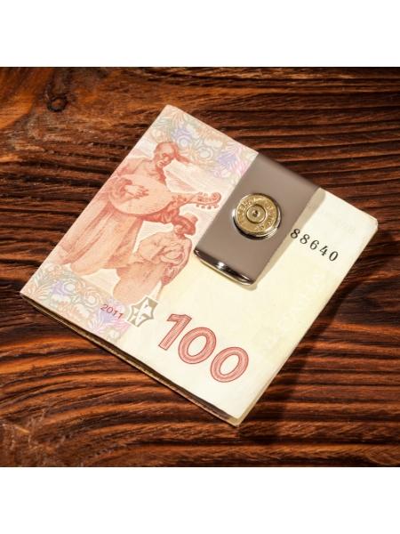 Затискач для грошей з донцем гільзи .45ACP / нікель