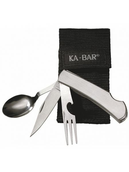 Тактичний набір ложка-виделка-ніж Ka-Bar Hobo 3-in-1 Kit 1300