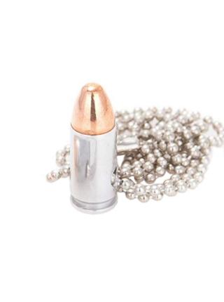 Кулон-патрон Lucky Shot 9 mm Nickel Necklace