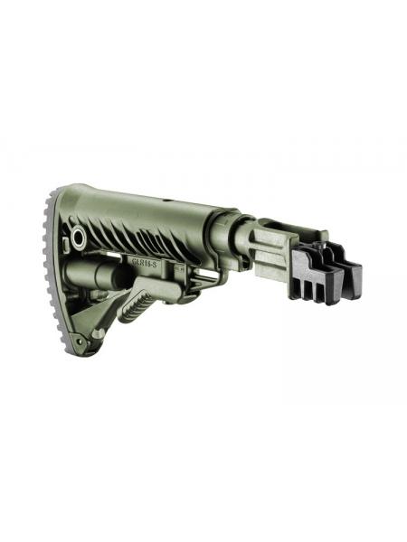Приклад Fab Defense GLR-16-S з регульованою щокою + труба з компенсатором віддачі