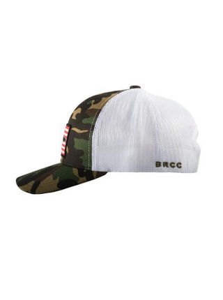 Кепка Black Rifle Coffee Company AR Patch Trucker Hat – Camo w/White Mesh